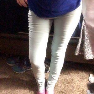 Mudd velvet-like lt blue skinny jeans